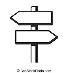 Signpost Icon. Vector