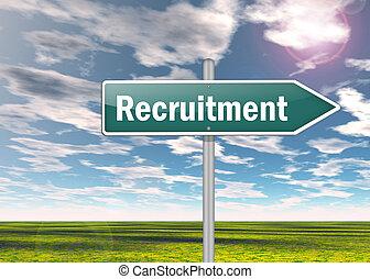 Signpost Recruitment - Signpost with Recruitment wording