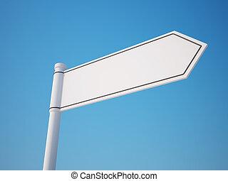 signpost, ritaglio, vuoto, percorso