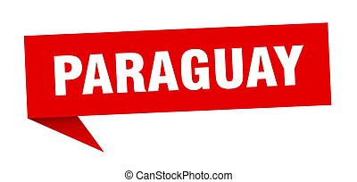 signpost, rosso, sticker., segno, puntatore, paraguay