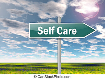 Signpost Self Care - Signpost with Self Care wording