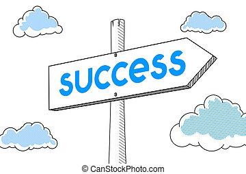 signpost, -, sucesso