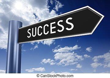 signpost, sucesso