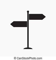 signpost vector icon
