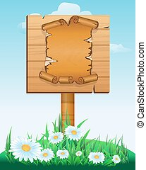 wooden sign boards - Signpost. wooden sign boards with old...