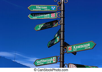 Signposts at the crossroads