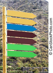 Signposts pointing in one direction