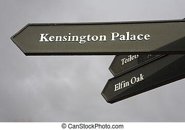 signs #1 - Signpost to Kensington Palace