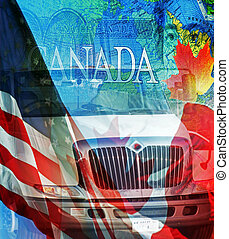 Signs and Symbols of Trade Between America and Canada
