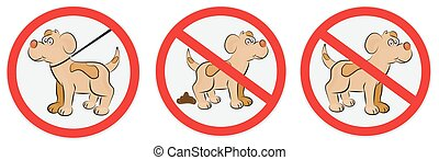 Signs for dogs - Set of signs for dogs