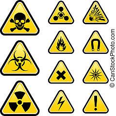Signs of danger. Illustration on white background for design