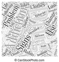 Signs of Drug Addiction Word Cloud Concept
