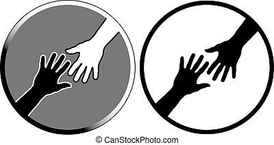 signs of help. vector illustration
