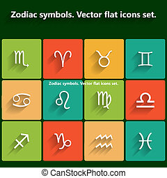 Signs of the zodiac. Vector