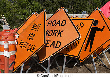 Signs - Road work signs