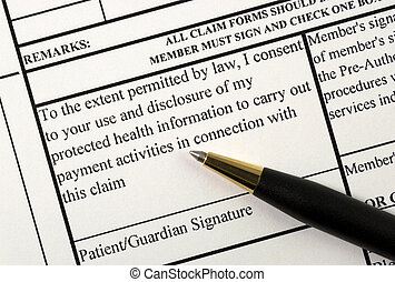 Signs the medical claim form
