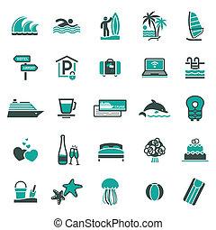 signs., vakantie, recreation.