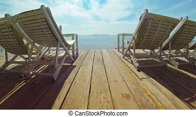 sihanoukville, beau, jour ensoleillé, pont