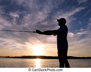 sihouette, pesca