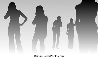 Sihouetted of Business People - 6 - Silhouetted Business...