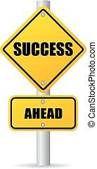 siker, előre, út cégtábla