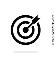 sikeres, shoot., darts, céltábla, céloz, ikon, white,...