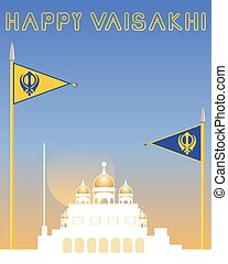 sikh background - an illustration of a white and gold...