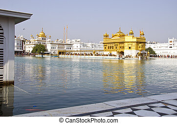 sikh Golden temple in Amritsar, India - sikh Golden temple...