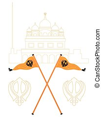 sikh greeting - a vector illustration in eps 10 format of...