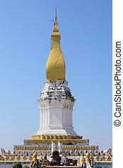Sikhottabong pagoda, Khammouan, Tha Khaet, Lao.