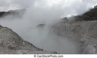 Sikidang crater kawah sikidang , Wonosobo, Central Java -...
