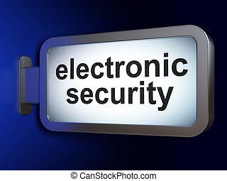 sikkerhed, concept:, elektroniske, garanti, på, plakattavle, baggrund