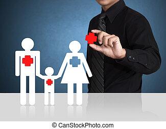 sikkerhed, symbol, forsikring, begreb