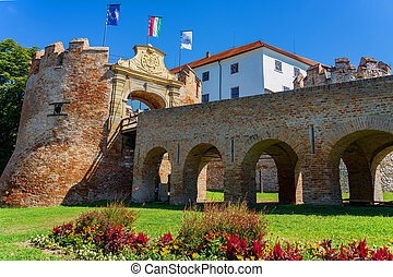 Siklos castle on a beautiful summer day in Hungary