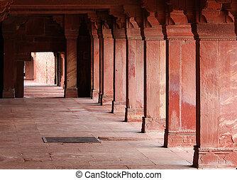 sikri, fatehpur, indie, uttar, jama, agra, masjid, pradesh