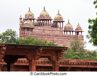 sikri, fatehpur, meczet, uttar, agra, masjid, jama, ind, pradesh