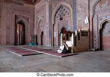 sikri, pradesh, masjid, モスク, 複合センター, jama, インド, uttar, ...