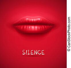 silêncio, fundo