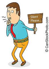 s'il vous plaît, silencieux