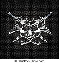 Logo adler mit krone