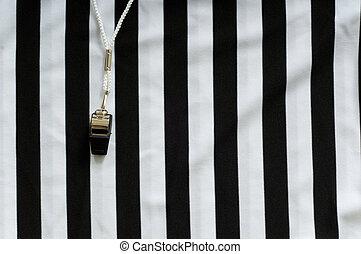 silbido, árbitro, jersey