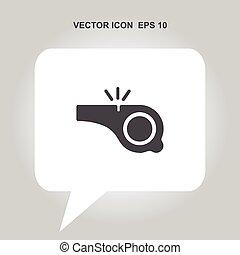 silbido, vector, icono