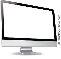 silde, schermo, computer, mostra
