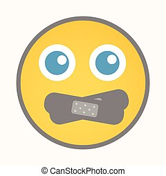 Silence - Cartoon Smiley Vector
