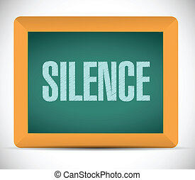 silence sign illustration design