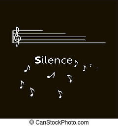 silence text with notes