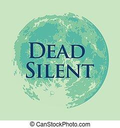 silencieux, entiers, mort, lune, vecteur, illustration