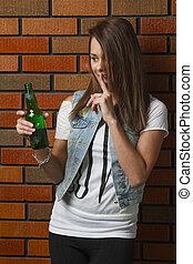 Silencing a beer