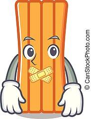 Silent air mattress mascot cartoon vector illustration