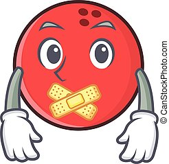 Silent bowling ball character cartoon